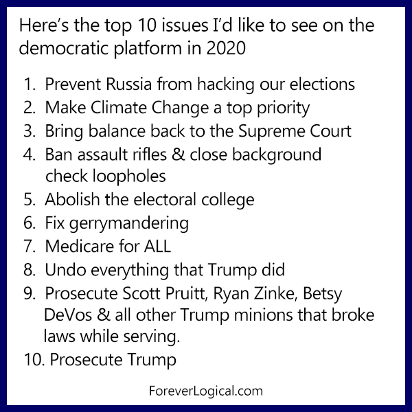 My top 10 issues for 2020